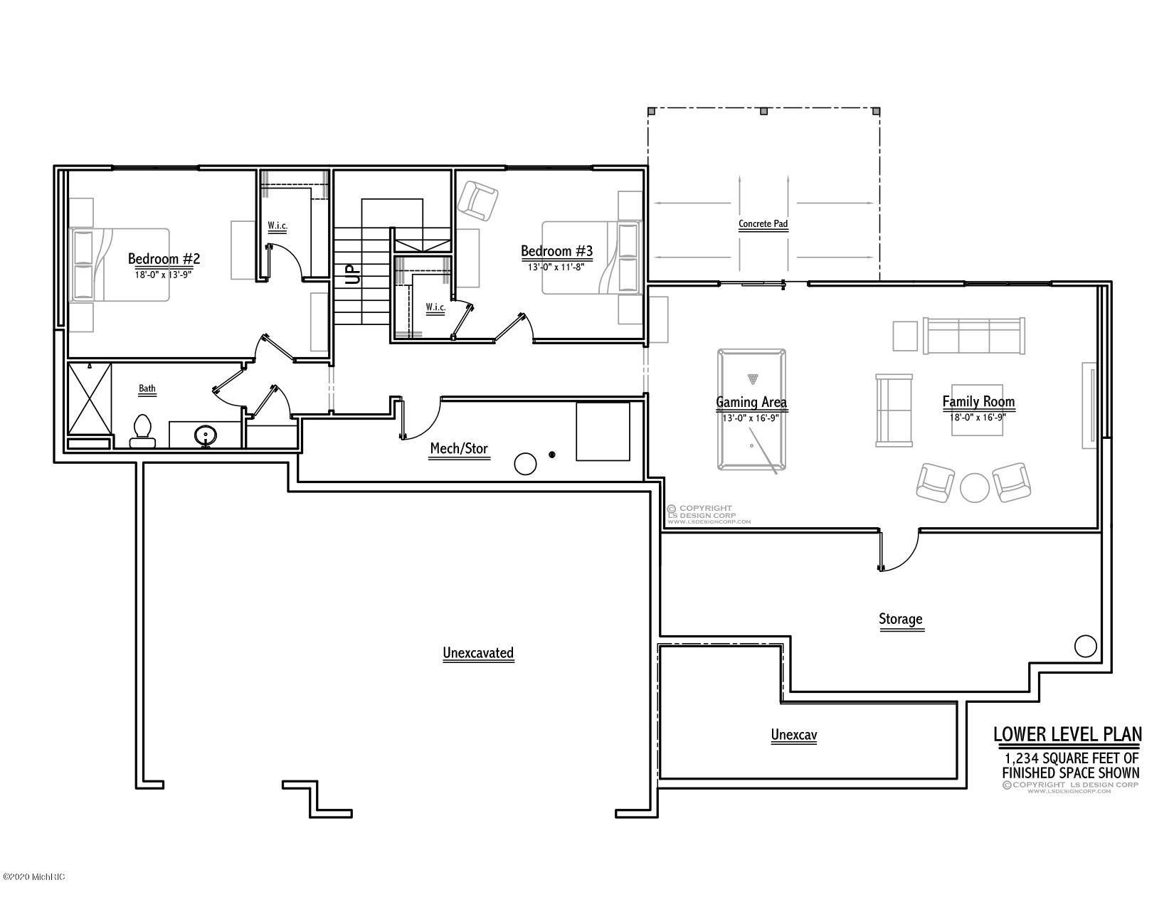 Lower 2233 Whistle Creek floor plans