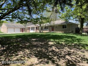 Spacious all brick walkout ranch with 5+ bedrooms on 2.74 acres with barn & storage shed!!  MAIN FLOOR boasts a cer.tiled entry,LR with FP, Kitchen,large open Dining Rm.,2 BRS, full cer.tiled bath & large 2 tiered deck + a seperate in-law suite/apartment w/2nd kitchen/eating area/living area with built-ins/BR/cer. tiled full bath & laundry all with seperate FA furnace/central air & entrance! WALKOUT LEVEL offers a FR,office, 2 BRS, 3RD full bath, laundry & work/mechanical room with high eff. furnace. This home also features replacement windows,all appliances included + an oversized 2+ stall garage! This unique property has a wonderful private backyard & vista with no neighbors to the rear & is convenient to shopping & restaurants with easy access to main thoroughfares!