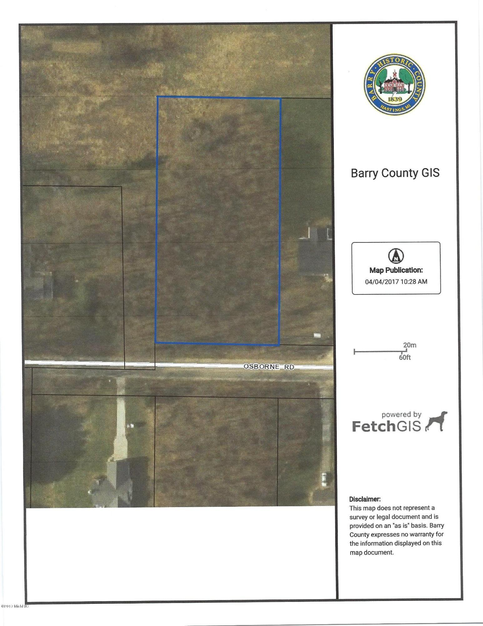 Property for sale at Parcel 1 Osborne Road, Delton,  Michigan 49046