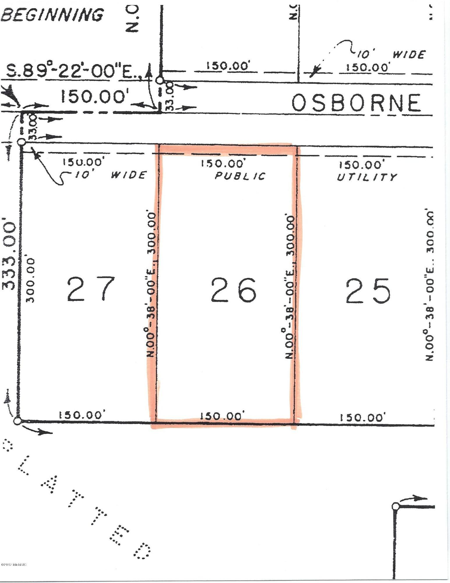 Property for sale at Parcel 26 Osborne Road, Delton,  Michigan 49046
