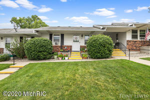 A 55+ coop community. $335 month includes heat, electric, water, sewer, trash and taxes. Seller rents a garage for $25/month. Stove, refrigerator, 2 a/c units included.  Shows great w/updated bath, 2nd br,  is being used as laundry. Dresser, mirror and secretary stay in master bedroom.Room Desc: LR, Kit, 2 Br, Mfu, BA