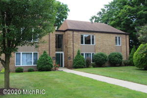 Come take a peek at this well cared for, spacious condo at a hard to find price point close to GVSU and downtown GR! This must see upper-level condo features a large living room and beautiful picture window, dining area with snack bar & slider to deck, galley kitchen, 1.5 baths, 2 large bedrooms, and in unit laundry. Updates include new paint, carpet (2017), deadbolt with peephole, hardware, faucets, new dishwasher (2019), vanity, light fixtures, shower head and hot water heater (2017)! Tons of storage with large closets in both bedrooms, a pantry, hall closet, utility closet and a small storage area in the basement! Includes carport space and parking for one additional car. The association partners with a nearby development to provide access to a pool in the summer! You can't beat the location: close to golfing, bike path, restaurants and shopping. Don't wait too long!