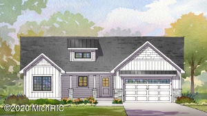 Welcome home to this wonderful new home in Grandville Schools in a quiet 1.93 acre wooded setting in the city. Open design, cathedral ceilings, solid surface counters in kitchen and more. Three bedrooms on main level. Lower level has expansion possibilities with family room and 2 or 3+ additional bedrooms, and a full bathroom. Lower level is unfinished space. Home is ranch design. Stainless steel appliances. Michael Gantos, is a licensed Michigan real estate broker, and has ownership in the home. Finishing of the lower level expansion is not included in the listed price. Landscaping by Buyer. Yard to be finished to rough grade.