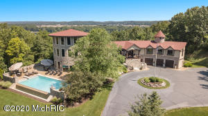 An exceptional luxury home of distinction with all the charm of an Old English Manor married to the stunning contemporary design of American elegance. This sprawling 13-acre estate is made for year-round entertaining beginning with magnificent home theatre, games room, special-events wing perfect for private catering and bar service. Everybody's dream infinity pool with huge sun-drenched patio, basketball court and the piece-de-resistance: hone your golf skills with your personal chipping green. This private wooded estate abounds with nature including deer, turkey and spectacular birdlife. The property is beautifully landscaped with recreation areas, walking tracks and a long winding driveway that's breathtaking every time you enter through the security gates to your own piece of paradise.