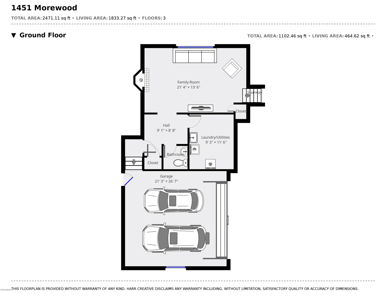 1451 Morewood Basement