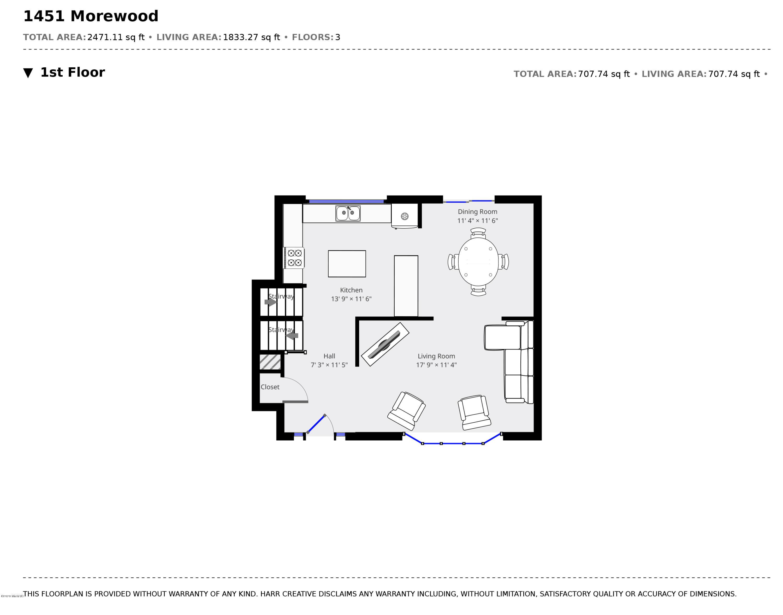 1451 Morewood First Floor