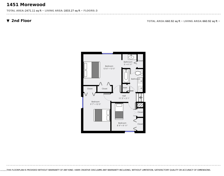 1451 Morewood Second Floor