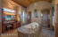 Master Bath w/River Rock Floor & Tiled Double Entrance Walk In Shower