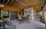Lower Level Screened Porch w/ Wood Burning Fireplace