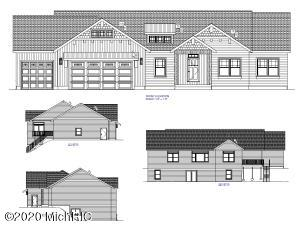 PROPOSED CONSTRUCTION-To be built in fall 2020. This open floor plan ranch home will have 3 bedrooms and 2 1/2 baths. The main floor will have a master bedroom, full bath, half bath, living room, kitchen with island, laundry, and dining room with walk out to deck and 2 additional bedrooms.  Large three stall attached garage.  Yard will have final grade. Seeded yard and landscaping is negotiable. The buyer will be able to pick out colors and finishings.