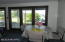 Guest house dining with lake view/covered patio