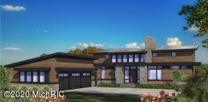 This proposed to be built contemporary masterpiece designed by Brad Douglas  is located just minutes from downtown Ada, on a private cul-de-sac in the Kennett Square development. The stunning wooded 2.5 acre lot is the secluded setting you have been looking for! The proposed design boasts custom, high end finishes tailored to the buyers selections and built by the esteemed Bruce Heys Builders. The main level boasts an open living concept, kitchen complete with large island, and a large laundry room. Also on the main level, the master suite has a large walk in closet, an exquisite master bathroom complete with heated tile floors, shower, and soaking tub and has en suite office access. Upstairs you will find 4 bedrooms with 2 jack and jill bathrooms. Select your finishes and make this st