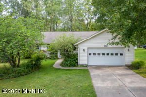 Beautifully Remodeled Kenowa Ranch that is sure to please . Tastefully done with new paint, carpet, furnace and central air  .Very  spacious floor plan with over 1700 square feet. You will love the large kitchen and dining area that open to Living Room with sliders to massive deck and yard. Please take note of the master suite and main floor utility .Plus additional two bedroom on main level .Lower level is plumbed for 3rd bath and future family room and 4th bedroom if needed with egress window plus storage area . Everything is new and ready to move into today. Two stall garage  Located on a quiet dead end street with a huge backyard to accommodate gardening, cookouts plus room for play area.  Please note currently non -homestead taxed and was uncapped   Check with city on homestead amount Deep lot 306 feet and a deck that skirts the entire back of the home, shows like brand new . Make your appointment today