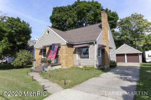 What a great opportunity in Wyoming! You will love this 3-bedroom, 1 1/2 bath home located on a quiet off street close to Battjes Park. Step inside and you are greeted with a sizable living room that includes a picture window that looks over the street and a brick fireplace. There are two bedrooms on the main floor, just down the hall from the full bathroom. The kitchen and dining area are open to each other, creating a great space for entertaining. The three-season porch looks over the parklike backyard which is shaded and is only steps away from the two-stall unattached garage. The upstairs dormer creates a large bedroom area too! The partially finished basement includes a bar, fireplace, lots of storage, half-bathroom, and a laundry area. This home is a hot commodity, please schedule your safe and private showing today! Possession 60 DAC. Offers due by Monday 9/14 at 8 pm.