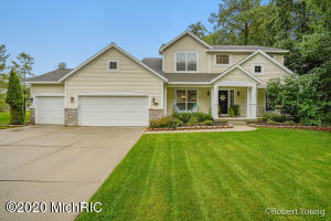 *Highest & Best Offer Deadline of 09/14/20 at 11:00am* Bailey's Grove, a beautifully landscaped and master planned community. This two-story, 5 bedroom, 2.5 bathroom home is in move-in condition and sits on a large .40 acre lot. Some of the many features include: open floor plan with 9' ceilings on the main floor, gas fireplace, kitchen w/eating area, island, pantry, and updated appliances; main floor bedroom/flex room, updated main floor laundry room, 3 stall garage, and lower level ready for finishing (bedroom, bathroom, family room, & storage). AC unit new in 2019, new water heater in 2018, newer carpeting, nice deck, and a great setting at the end of a private street. Enjoy a four-acre park, walking and bike trails, heated pool, lifeguard and clubhouse amenities. Annual HOA fee $335.