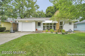 Check out this adorable, move in ready Ranch home! This 2 bed home could easily be turned into a 3 bedroom home as a large window is already in the basement ready to be converted! Enjoy the updated kitchen, freshly painted bathroom, and new carpeting in the master! This cozy home has 2 fireplaces and an adorable 3 season room off the back that connects to the kitchen and garage with easy access to the large fenced in backyard! Don't miss the additional living space in the basement and storage area too. Book your showing today! Seller has directed ListingAgent/Broker to hold all offers until Monday, 9/14 at noon. Will be reviewed later that evening.
