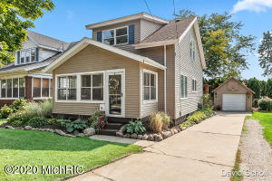 Beautiful home in a great area across the street from Sacred Heart and just down the street from John Ball Park Zoo and Park. $30,000 in brand new Pella windows. New refrigerator and dishwasher. Home is very well maintained. Come take a look for yourself!Holding all showings until Friday 25th