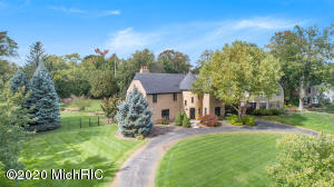 This gracious French Provincial estate is positioned on two huge lots providing over three quarters of an acre of mature trees, shrubs and fenced privacy. Inspired architecture makes this spacious 6,366 square feet four level home unique. Features include magnificent hardwood floors on the main and upper levels with plush carpeting in the lower level. The kitchen includes granite counter tops and Jenn-Air range oven with formal dining room adjacency. Two Italian Carrara marble fireplaces, one in the formal living room, the other in the primary (master) bedroom. Three of the four levels feature in-floor heating and top-shelf whole home sound system. Underground sprinkling is fed by well water keeping water bills way down. 945 San Lucia is your next prestigious address, come see it today.