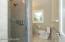 Master bath with custom tile shower
