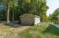Detached two car pole barn.