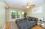 Main floor Master suite with privat full bath and private porch with Gull Lake views.