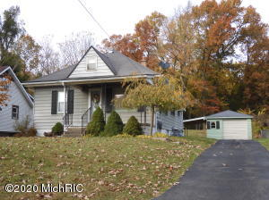 Come see this cute 2 bedroom 1 bath home in Kenowa Hills school district. very well maintained and solid home!  Nice size kitchen, dining room and living room.  With a small bit of decorating this would be very cozy place to call home.  The basement is dry and open for another bedroom, bath and maybe a rec room. Laundry is downstairs as well.  The backyard is huge with mature trees in the back.   A one stall garage is nice with winter approaching.  Offers due November 5th at noon.