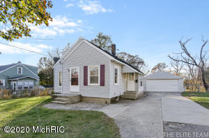 This well maintained 3 bed 1 bath home is a must see! Super clean and ready to move in at close. The main level features a nice size living room that leads to the kitchen and eating area. Down the hallway is the full bath as well as a good sized bedroom. Finishing out the main level is a room that could be used as a bedroom, office, playroom, gaming area etc. This room has a slider door that leads to the deck and large fenced in back yard. Upstairs are two nice sized bedrooms. The partially finished lower level has a large living room as well as laundry area with plenty of storage. The extra large 2 stall garage has 800 sq ft and is fully insulated and set up for a wood burning heat system. There is also a shed for added storage. The inside of the home was also just professionally painted.