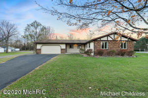 Come check out this Beautiful Ranch in Walker on the NW side.This nice 3 BR 1 1/2 bath home has Solid surface counter tops, Gas fire place and a Full unfinished Basement.2 Stall garage and a large shed for the hobbyist.Main floor laundry  fenced yard.