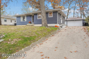 Nice 2 bedroom ranch in the heart of Wyoming featuring an eat in kitchen, hardwood floors in the living room, new furnace in March and a new roof in 2017.  Could be a 3 bedroom as the wall was removed to create a cool den area with French doors leading to the deck overlooking the back yard.  The full basement has a finished office area, and the rest is just itching to be finished.  There is already a shower even.  Large 2 stall detached garage and mature trees make the back yard a great place to play.  Per sellers, all offers are due by Noon on 11/9/2020 and the sellers will not review any offers until later that day.