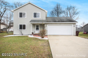3 Bedroom home conveniently located near 131 in the city of Wyoming. Property features 2 lots (41-17-36-402-049) & (41-17-36-402-049) offering a spacious yard in the city, Deck and patio area for entertaining, 2 stall attached garage. Home features; 3 Bedrooms on the 2nd level with Laundry area and full Ballroom, new carpeting throughout. 1st level laminate flooring throughout, Large living room, spacious kitchen, dining room and pantry with half bath. Home is priced to sell. Home requires flood insurance. All Measurements were taken from public records. Selling agent to verify information.