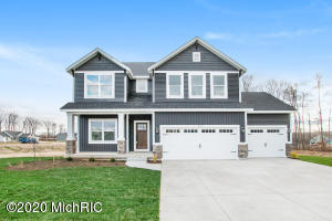 NEW CONSTRUCTION IN SESSIONS WOODS! - The ''Jamestown'' is an energy efficient, 2517 sqft, 4 bed, 2 1/2 bath home built by Maplewood Homes. It includes an open concept & 9' ceilings on the main floor & basement. The kitchen features a snack bar, Jenn-Air stainless steel appliances, and a walk-in pantry. Upstairs you will find nicely-sized bedrooms, a spacious bathroom with two sinks, the laundry room and a large master suite with attached bathroom and large walk-in closets. The unfinished daylight basement is already plumbed for a third full bathroom. This beautifully appointed home includes a third stall, fireplace & deck and sits on a 0.38A lot in a wonderful new community in the Grandville School District. Call today to schedule a tour.