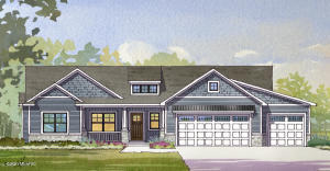 1750 Sq ft Home To Be Built by DVS Construction. This is a wonderful open floor plan with main floor master suite with 2 addt'l bedrooms, 2nd full bath. There is a large bar area, lg walk in pantry in kitchen, living room w/ fireplace, dining area with slider to covered porch., mudroom, laundry and 1/2 bath as you come in off the 3 stall garage. This is a nice size lot with over 1/2 an acre with beach access to Kennedy Lake. Conveniently located 3 miles N of Allendale and only 25 min to Downtown GR or the lakeshore. Imagine options like kayaking, swimming, paddle boarding and fishing across the street or just enjoying the view. You will find Allendale is a great community. Allendale Schools.  Spec home is available to walk through with similar floor plan.