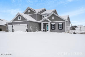 Beautiful 2-story home in the newly finished Riley Crossings community in Jamestown, Mi. Deck has been updated with more square footage, and concrete pads installed in the backyard for the brand new hot tub (included in sale!).Seller works for a home builder, and the pride of ownership and craftmanship is evident in every room of this home. Basement was recently finished with a kitchen area, hardwood floors, full bathroom and extra bedroom.One of the coolest realtors EVER lives just a walk away on Riley Street!Hurry up, this one is going to be SOLD before you can BLINK.*BLINK*