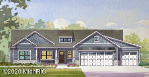 Just starting construction on 1,750 sq ft home. Attention to detail will be seen throughout! Enjoy the main floor master suite with 2 addt'l bedrooms, 2nd full bath. This open floor plan offers a large bar and pantry in kitchen, living room, dining area with slider to covered porch., mudroom, laundry and 1/2 bath as you come in off the 3 stall garage plus 3 stall garage under. Almost 3/4 acre lake lot on Kennedy Lake, conveniently located 3 miles N of Allendale. A convenient location only 25 min to Downtown GR or the lakeshore. Imagine options like kayaking, swimming, paddle boarding and fishing outside your door or just enjoying the view. You will find Allendale is a great community with awesome county parks, and good Schools.