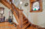 Rebuilt staircase/front entry