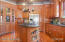 Kitchen with pot hanger