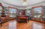 Upper Master bedroom/stained glass pair