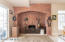 Fireplace designed as it would have been in 1886 when home was built