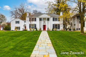 Completely remodeled, 5000+SF gracious home on most desirable street overlooks green space and offers modern updates and renovations today's homebuyer is searching for. The scale of the rooms and the layout of the home provide the perfect backdrop for gathering and for privacy in today's work from home environment. Gorgeous bluestone patio overlooks huge, private backyard. Current owner added additional 2.5 stall garage. This home checks all boxes with office, mudroom, sun room, large 2-story addition with great room, bedroom & 2nd floor laundry, renovated eat-in kitchen with booth, snack bar and quartz countertop, renovated baths, spacious bedrooms. Owners' suite has a spa-like feel with large ensuite & walk-in closet. Well cared for, amazing home is a turn-key dream.