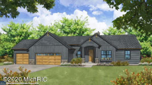 ''Can be built'' in 6-8 months. ''The Stonebridge'' This 3 bedroom 2 1/2 bath executive ranch home plan by quality/energy efficient/award winning YOUR HOMES LLC in the desirable Jamestown Estates Development on a 2.46 acre parcel Hudsonville Schools. Outbuildings allowed. (Room to finish the lower level w/ up to 3 more bedrooms, bath, kitchenette, & family room) Well appointed allowances for everything for an all in build. The main floor includes a master suite & open concept floor plan w/ fireplace, a custom designed kitchen w/ island & walk-in pantry. Mud room with bench, lockers, & closet, main floor laundry room, guest 1/2 bath round out the main floor. 3 car garage, private deck w/ views of your large lot and Daylight basement. We can fully customize a plan as well for this parcel.
