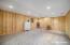 Large cedar room on lower level