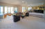 Recreation suite with rec room, custom built extension TV, hot tub room and wet bar.