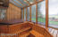 Hot tub room with cedar walls and the view!