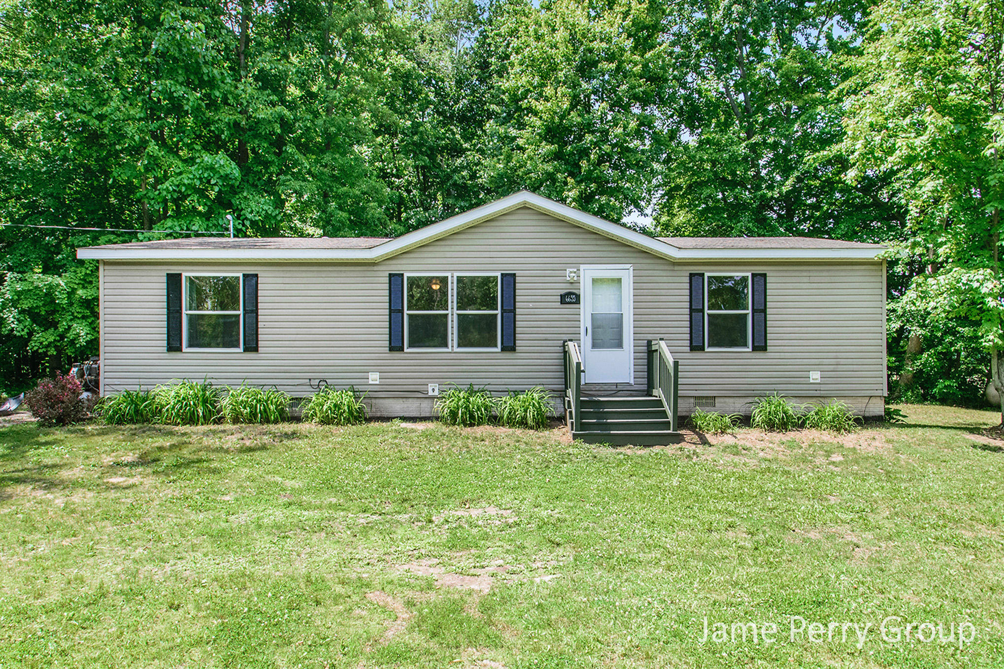 Great updated ranch home on 2 acres in wooded area.  Open floor plan with large living room and open spacious kitchen.  Dining area with walk out patio door to back deck overlooking woods and fire pit for marshmallow roasting.  Private master suite is inviting and on opposite side of home from the additional 2 bedrooms and full bath. Laundry/mud room area off kitchen with storage.  Back yard has storage shed as well with room to play and have campfires.  Home shows well and has lots of upgrades.  Call for a private showing before it's gone. Seller directs listing agent to hold all offers until 06/14/21 at 7pm