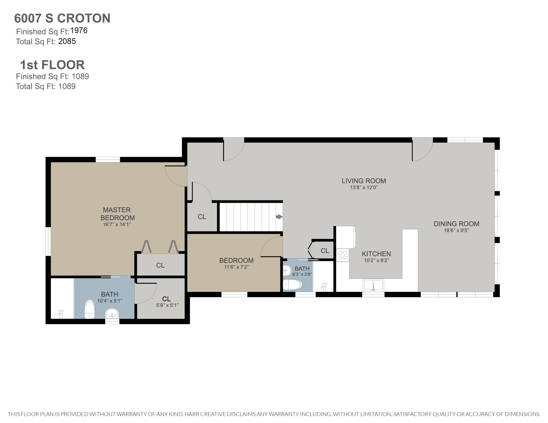 6007 S Croton Hardy 1st Floor