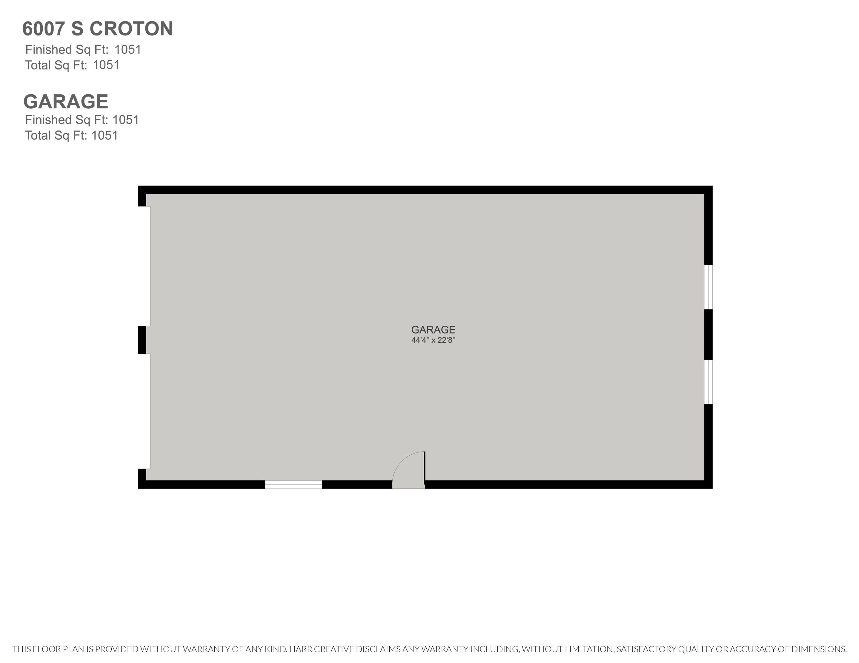 6007 S Croton Hardy Garage