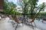 Outdoor lakeside deck