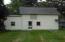 North side of pole barn / garage