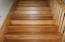 Beautifully refinished stairs