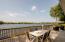 Large lakeside deck.